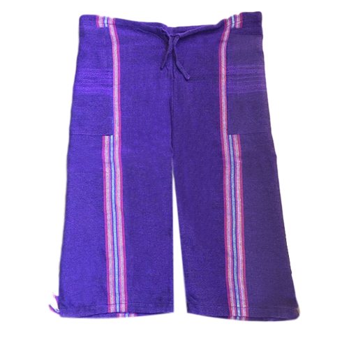 Oaxacan Pescador Board Shorts - Purple - Fair Trade Gypsy