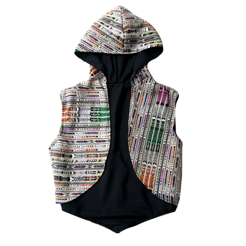 Handmade Guatemalan Hooded Vest - San Pedro - Fair Trade Gypsy