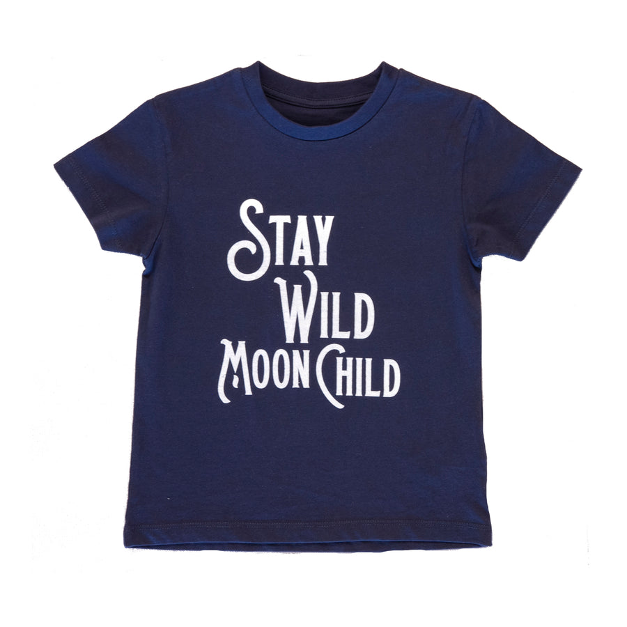 Navy Stay Wild Moon Child T-Shirt