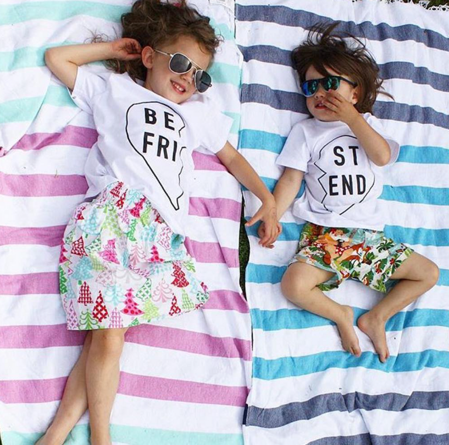 Best Friend T-shirt - 2 Pack (Front print)