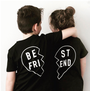 Black Best Friend T-shirt - 2 Pack (Back print)
