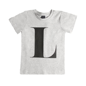 Grey Alphabet T-Shirt - Kids
