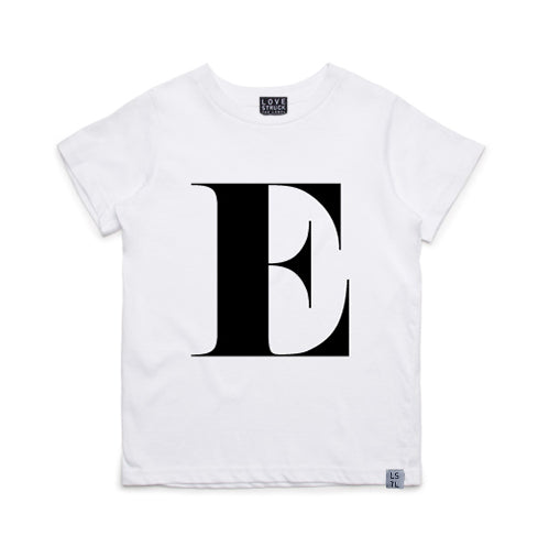 White Alphabet T-Shirt