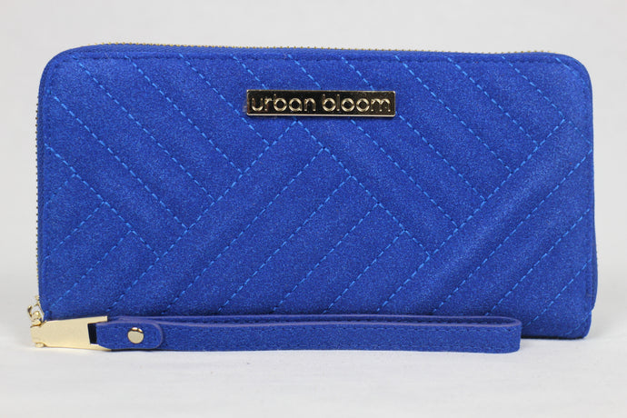 The ultimate blue suede wristlet