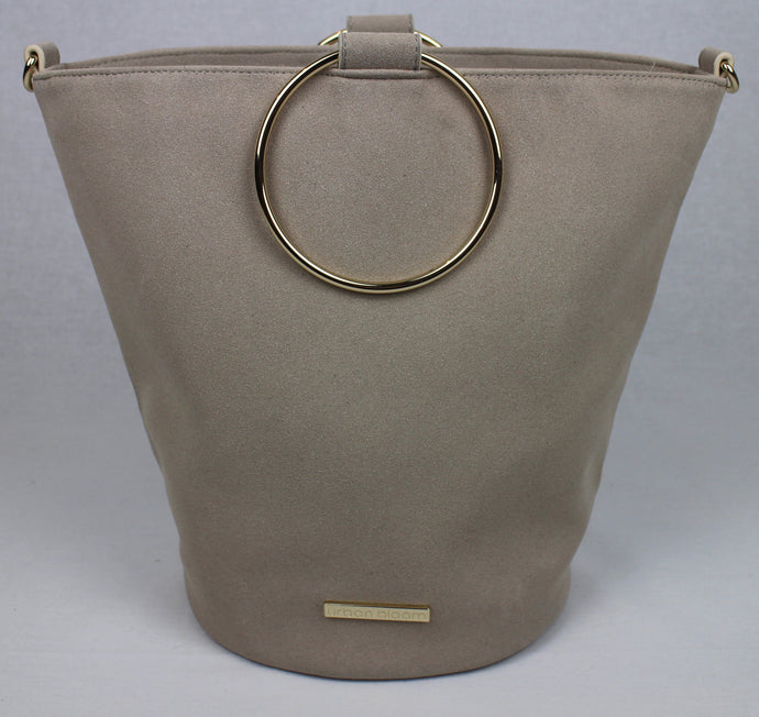 The ultimate beige suede handbag