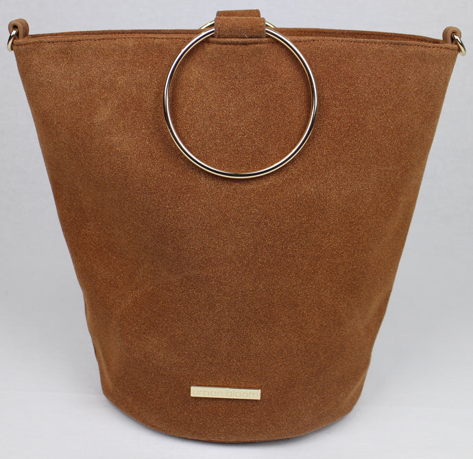 The ultimate camel suede handbag