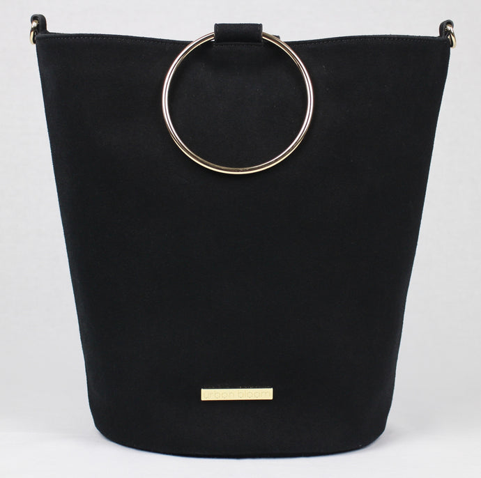 The ultimate black suede handbag
