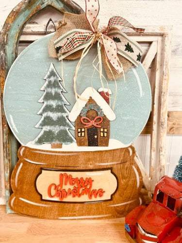 PAINTED- Snowglobe Merry Christmas - PREORDER