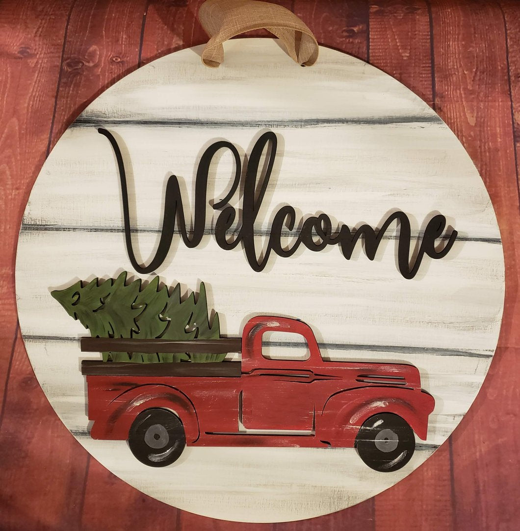 Painted Interchangeable - Welcome Truck Sign