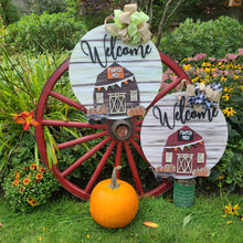 PAINTED - Fall Pumpkin Patch Barn Door Sign