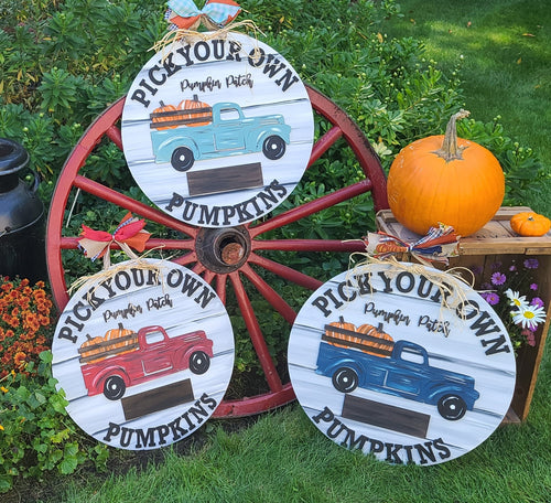 PAINTED - Pick Your Own Pumpkins Door Sign