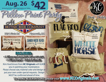 BBC Cedarville - Pillow Paint Party - DEPOSIT $20 balance will be due night of party