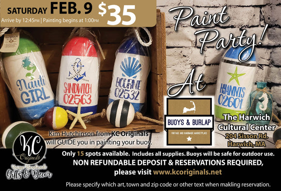 Buoys & Burlap - DEPOSIT for Buoy Paint Party