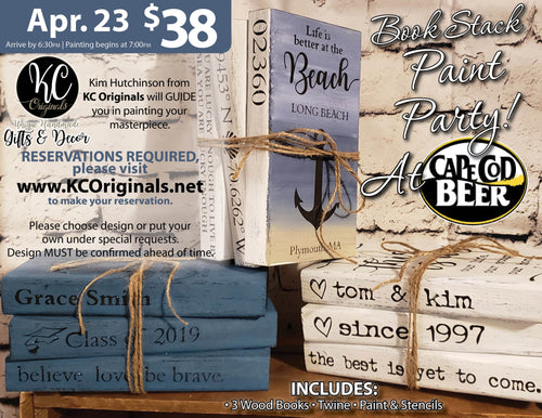ff7b98e7686745 Cape Cod Beer - Book Stack Paint Party - DEPOSIT  20 balance will be due  night