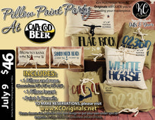 Cape Cod Beer - Pillow Paint Party - DEPOSIT $20 balance will be due night of party