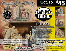 Pumpkin Paint Party - Cape Cod Beer - DEPOSIT - $20 Balance will be due night of party