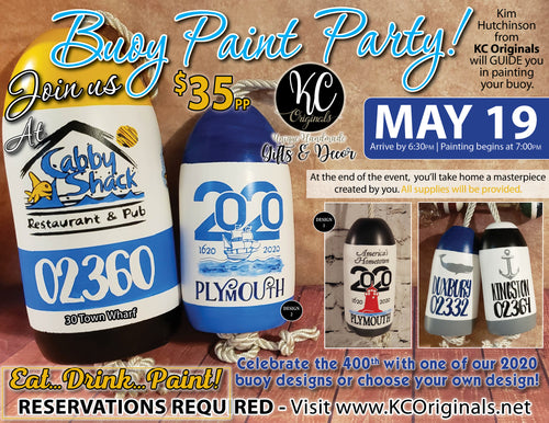 Cabby Shack - DEPOSIT for Buoy Paint Party - $20 balance will be due night of the event