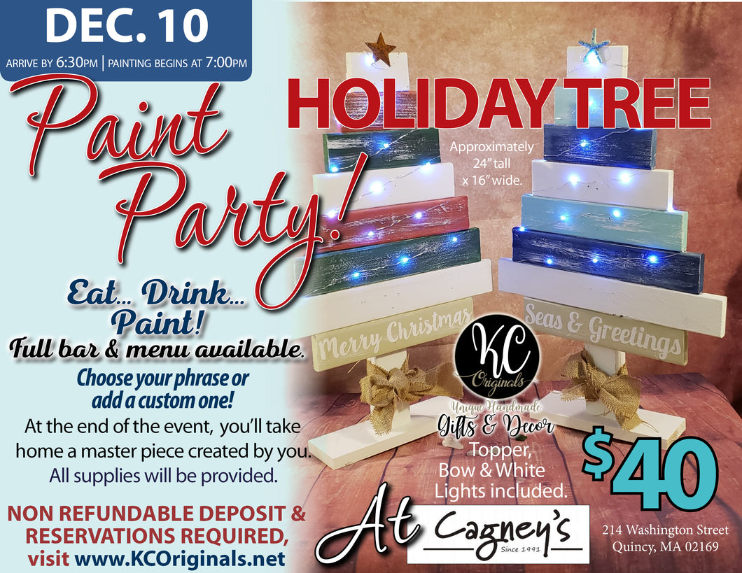 Cagney's Tree Paint Party - DEPOSIT - $20 balance will be due night of party