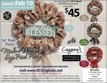 Cagney's - DEPOSIT for Wreath/Sign Party - $20 balance will be due night of the event