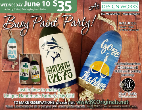Design Works - Buoy Paint Party - DEPOSIT - $20 balance will be due night of party