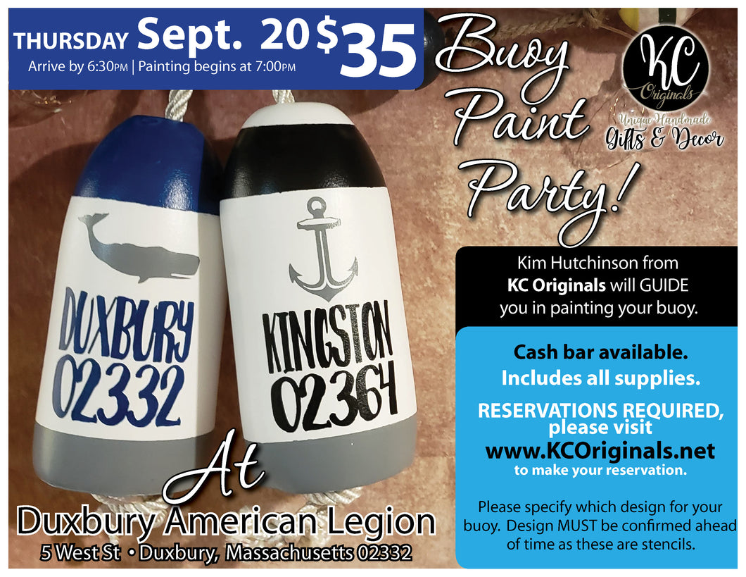 Duxbury American Legion- DEPOSIT for Buoy Paint Party