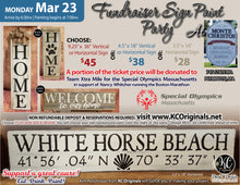 Fundraiser Sign Paint Party - Monte Christos - DEPOSIT - Balance will be due night of party