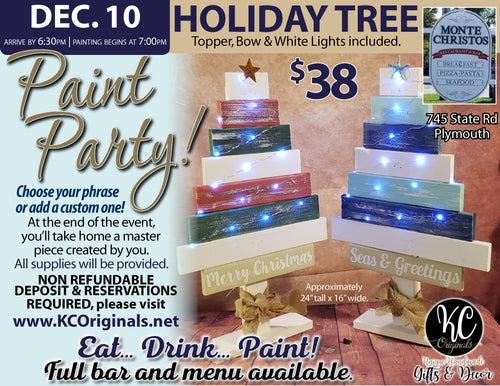 Monte Christos Tree Paint Party - DEPOSIT - $20 balance will be due night of party