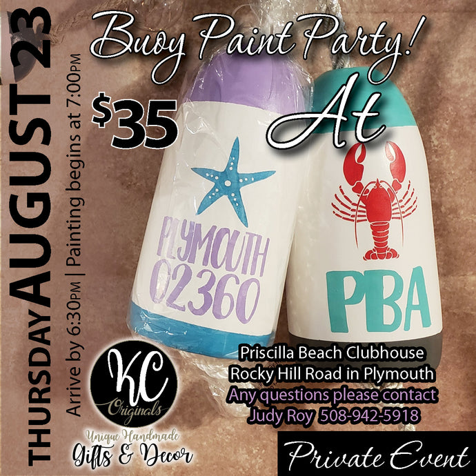 Priscilla Beach Assoc- DEPOSIT for Buoy Paint Party