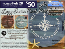 PRIVATE EVENT- Nantasket Beach Salt Water Club Lazy Susan Paint Party  - DEPOSIT - $30 balance will be due night of party