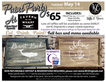 Relay for Life Fundraiser Serving Tray Paint Party - DEPOSIT - $30 balance will be due night of party