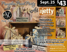 The Jetty - Pumpkin Paint Party - DEPOSIT $20 balance will be due night of party
