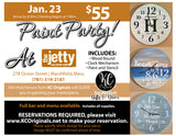 The Jetty Clock Paint Party - DEPOSIT - $30 balance will be due night of party