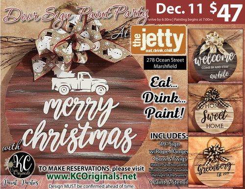 Door Sign Paint Party - The Jetty - DEPOSIT - $20 Balance will be due night of party