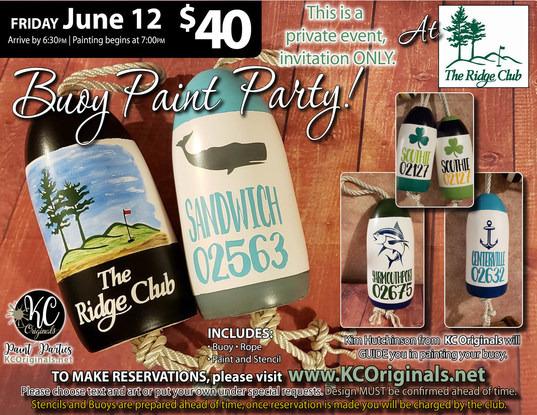 The Ridge Club - Buoy Paint Party