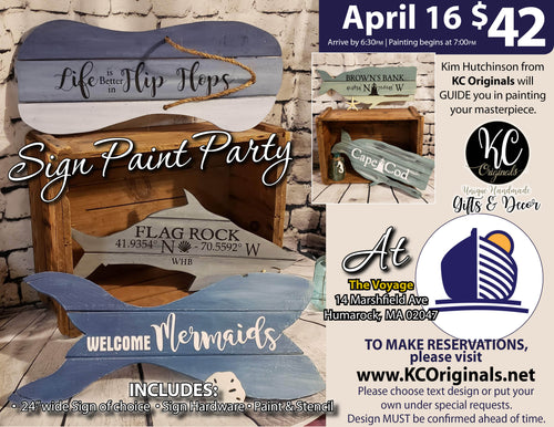 Pallet Sign Paint Party - The Voyage - DEPOSIT - $20 Balance will be due night of party