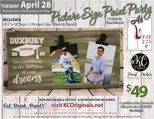 PRIVATE EVENT - Uva Picture Sign Paint Party - DEPOSIT - $20 Balance will be due night of party