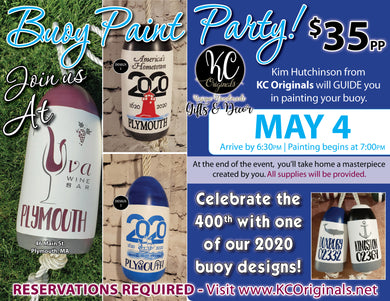 Uva Wine Bar - DEPOSIT for Buoy Paint Party - $20 balance will be due night of the event