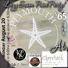 Claychick Lazy Susan Paint Party - DEPOSIT - $35 balance will be due night of party