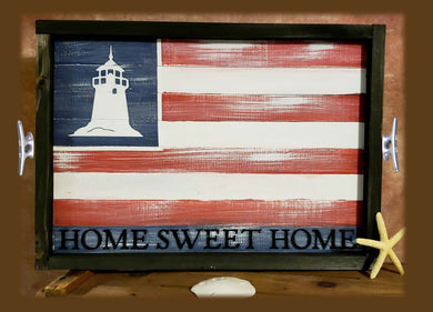 DIY - Flag Sign/Tray