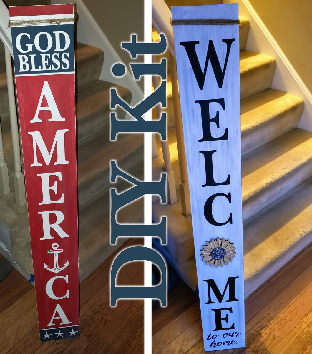 DIY  Interchangeable - Porch Leaner DOUBLE SIDED Sign