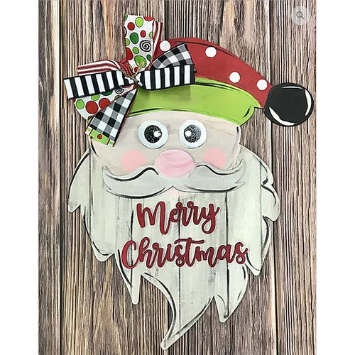PAINTED - Santa Merry Christmas Sign