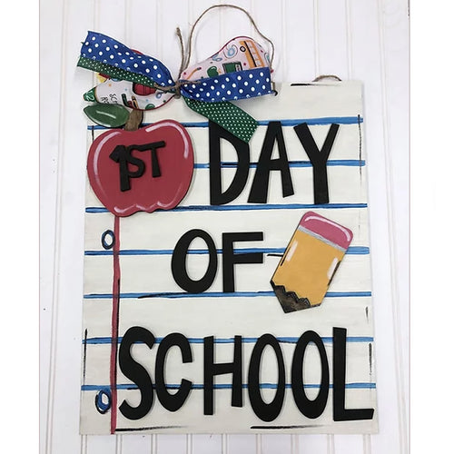 PAINTED - Day of School Frame