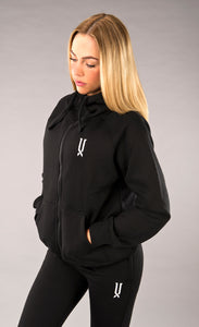 womens black full zip hoodie james lloyd