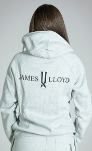 womens grey full zip hoodie james lloyd