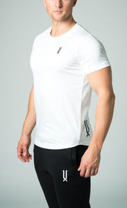 mens white crew neck slim fit t-shirt james lloyd