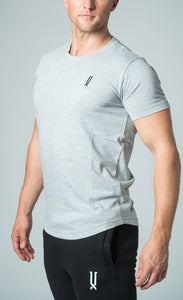 mens grey crew neck slim fit t-shirt james lloyd