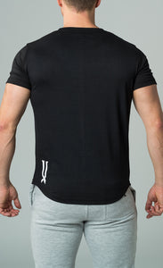 mens black crew neck slim fit t-shirt james lloyd