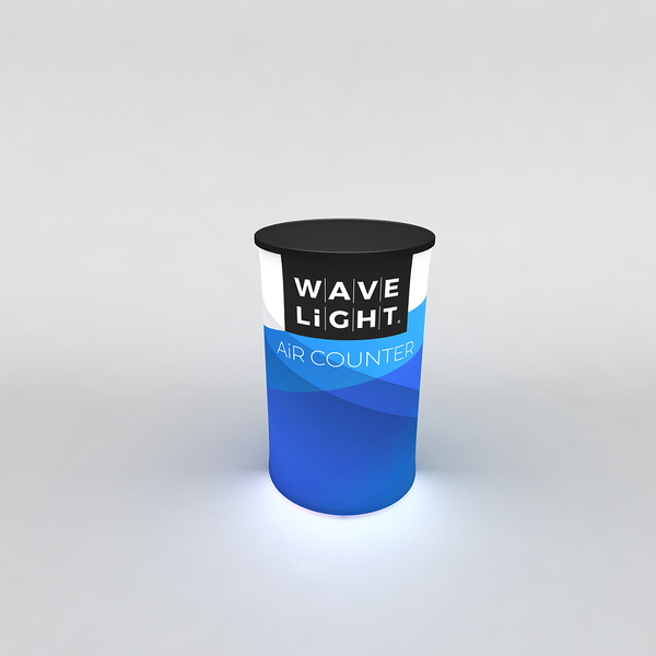 WAVELIGHT® AIR BACKLIT INFLATABLE COUNTER - CIRCULAR