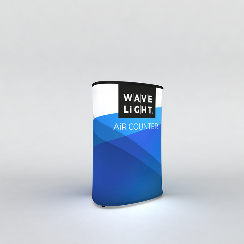 WAVELIGHT® AIR BACKLIT INFLATABLE COUNTER - TRIANGULAR