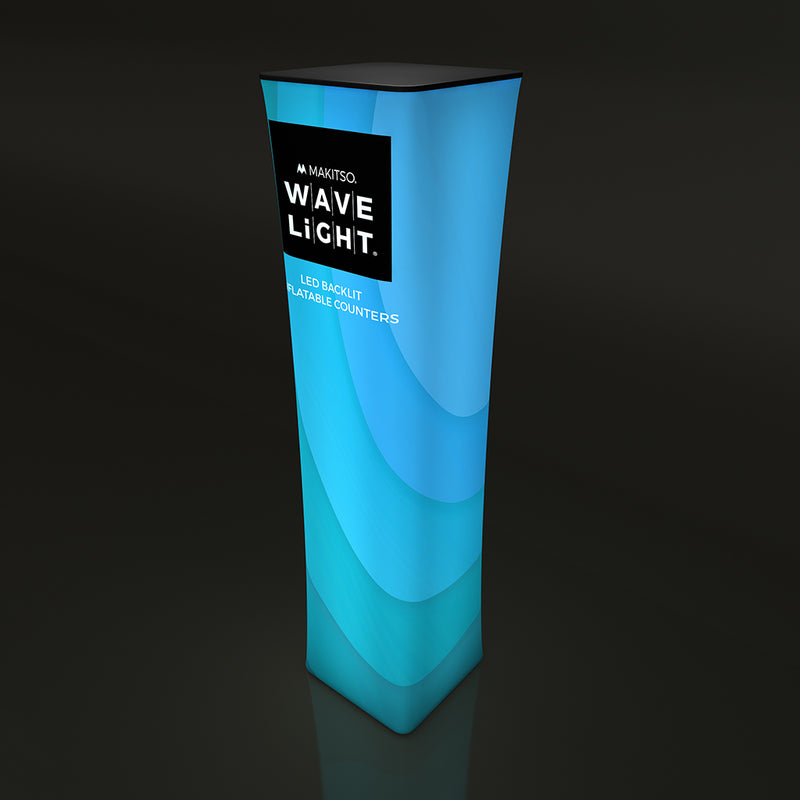 "WAVELIGHT® AIR BACKLIT INFLATABLE SQUARE TOWER - 126""H"